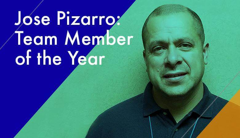 Congratulations to Jose Pizarro, 2016's Team Member of the Year
